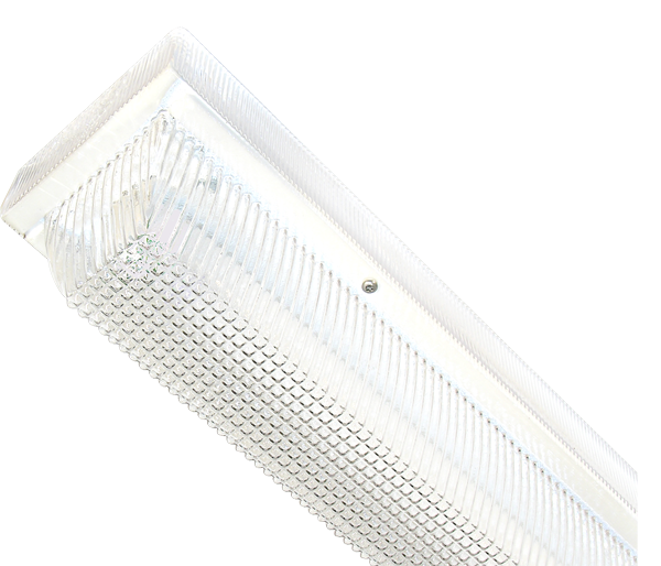 Strip Lighting with White Enamel Finish for Wet Locations